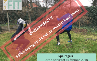 50 procent korting bootcamplessen in steenwijk fun fit
